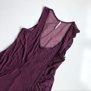 Free People Purple Ruffle Tank